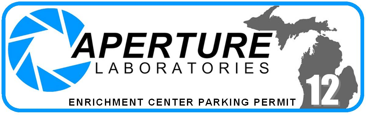Aperture Enrichment Center decal