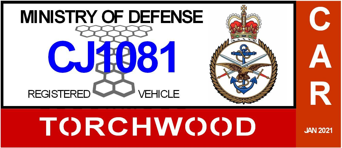Torchwood DD2220 Parking Decal